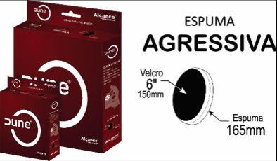 BOINA DE ESPUMA VERMELHA 125MM (LISA)
