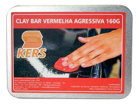 CLAY BAR MAGICO KERS VERMELHO AGRESSIVA 160gr
