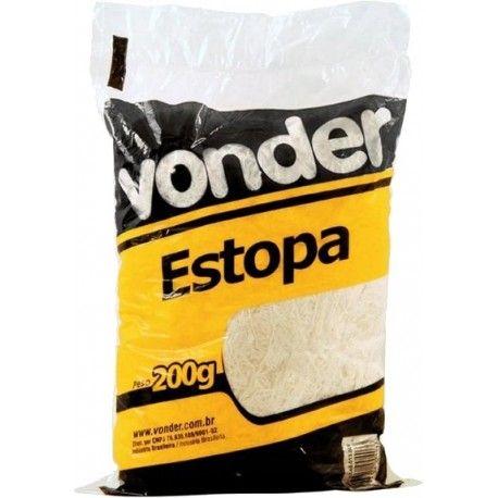 ESTOPA BRANCA POLIMENTO C/200G VONDER
