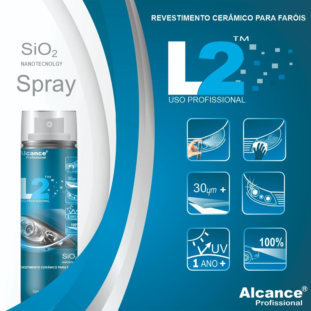 L2 40ML- SPRAY- Revest. Ceramico p/ Farois