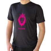 Camiseta Masculina Poliamida Preta ZAIDEN Leão Pink