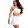 Short Saia Feminino Hot White