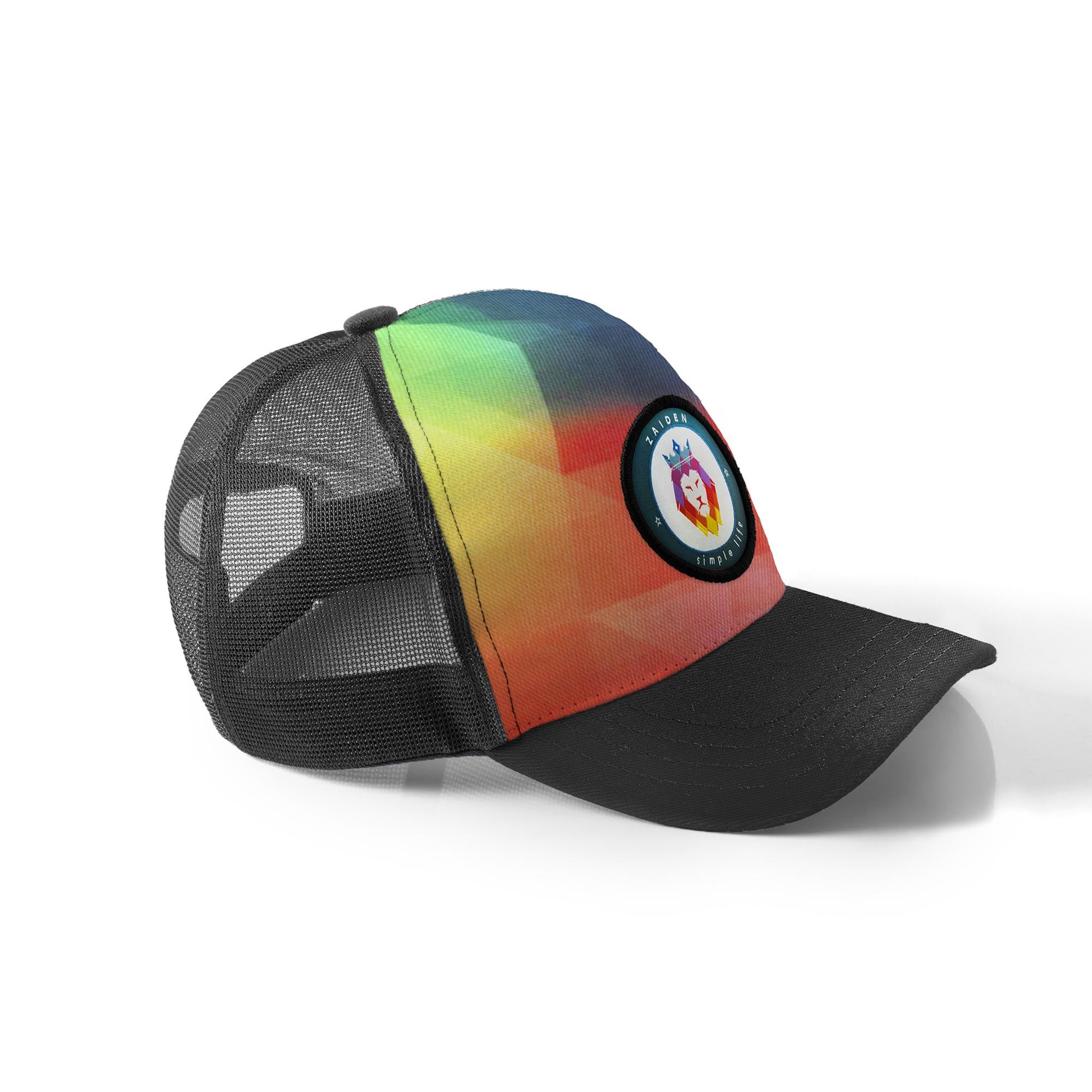 Boné Trucker Zaiden Colors Preto Multicolor