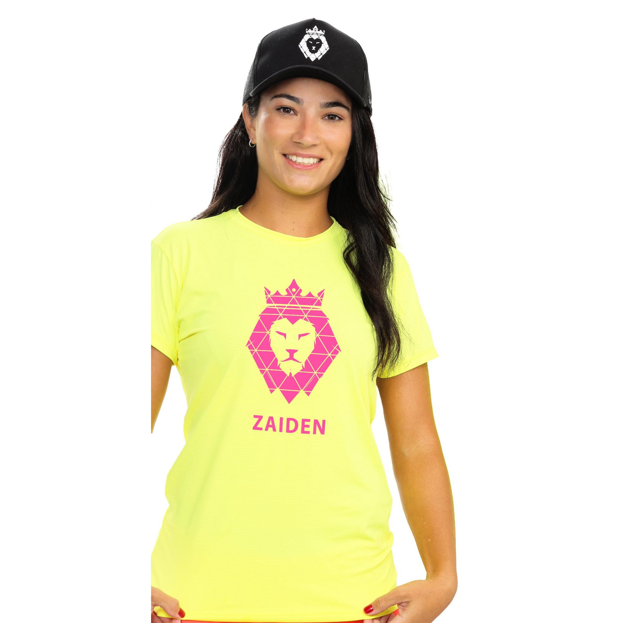 Camiseta Feminina Poliamida ZAIDEN Isla Leão Pink