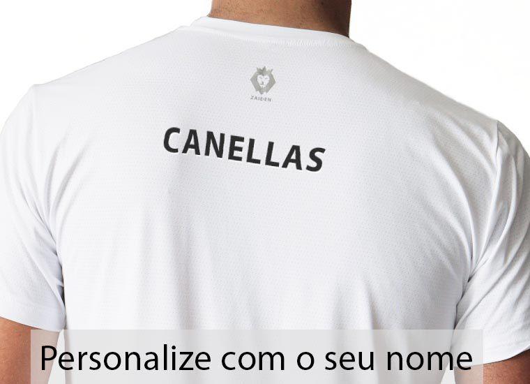 Camiseta Masculina Poliamida Branca ZAIDEN Leão Verde