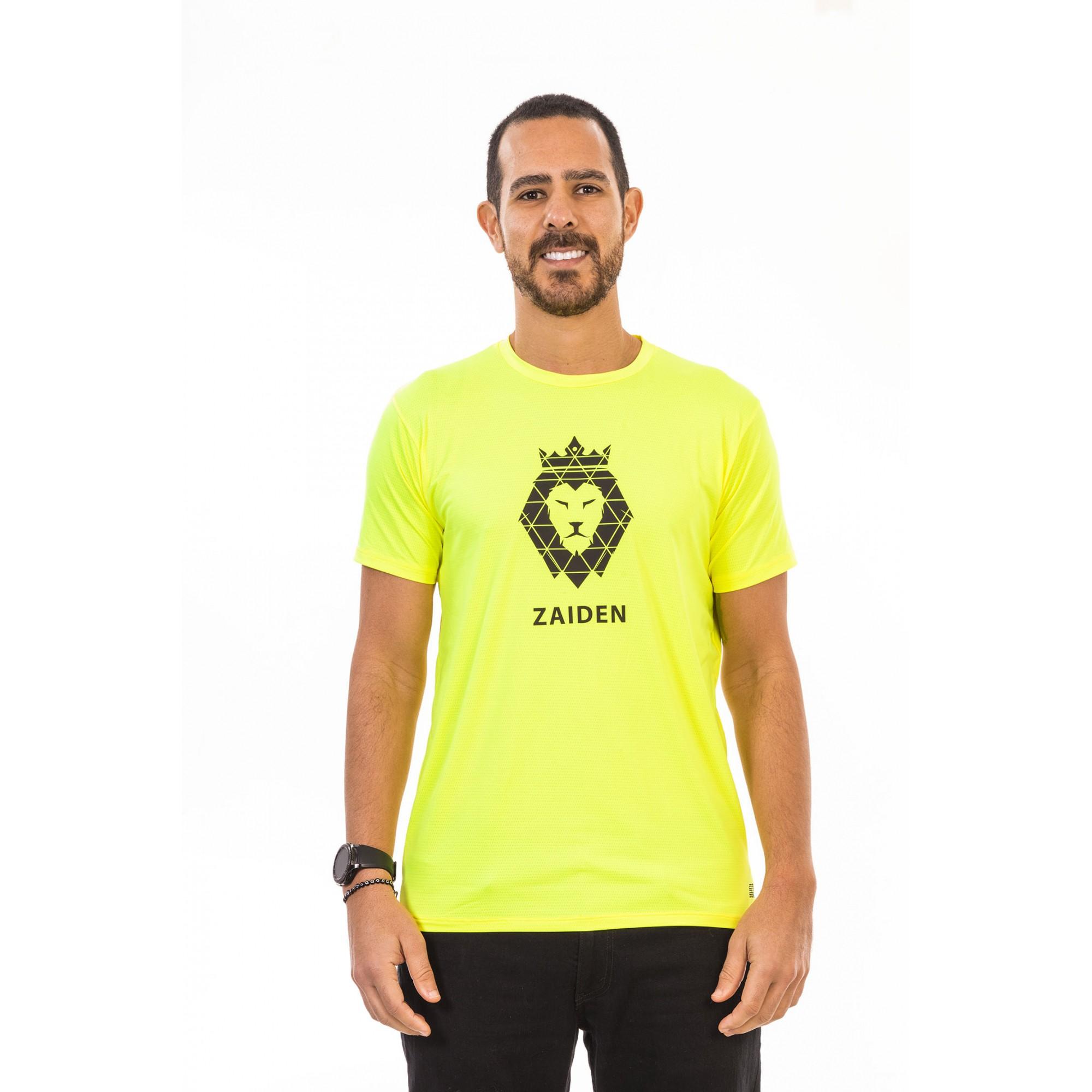 Camiseta Masculina Poliamida Isla Zaiden Leão Preto