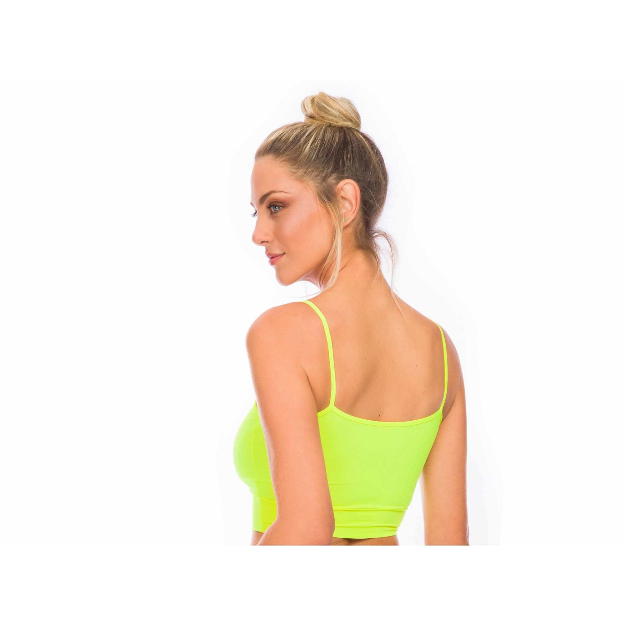 Top Cropped ZDN Sports Amarelo Neon