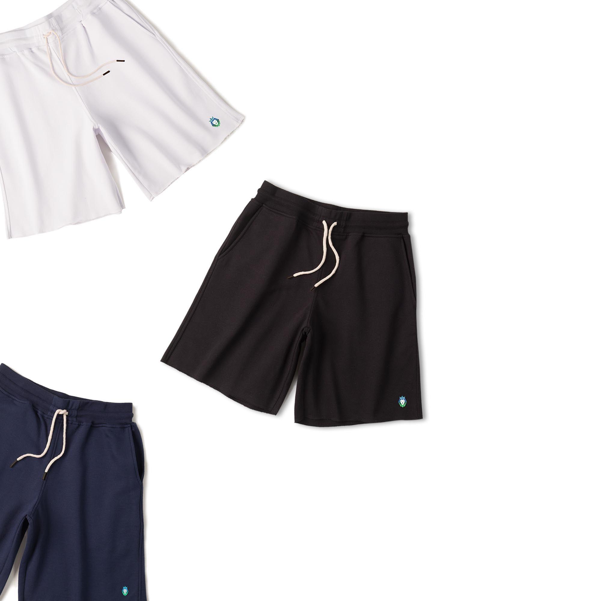 Kit 3 Bermudas Basic Zaiden Preta Branca Azul Marinho Masculina