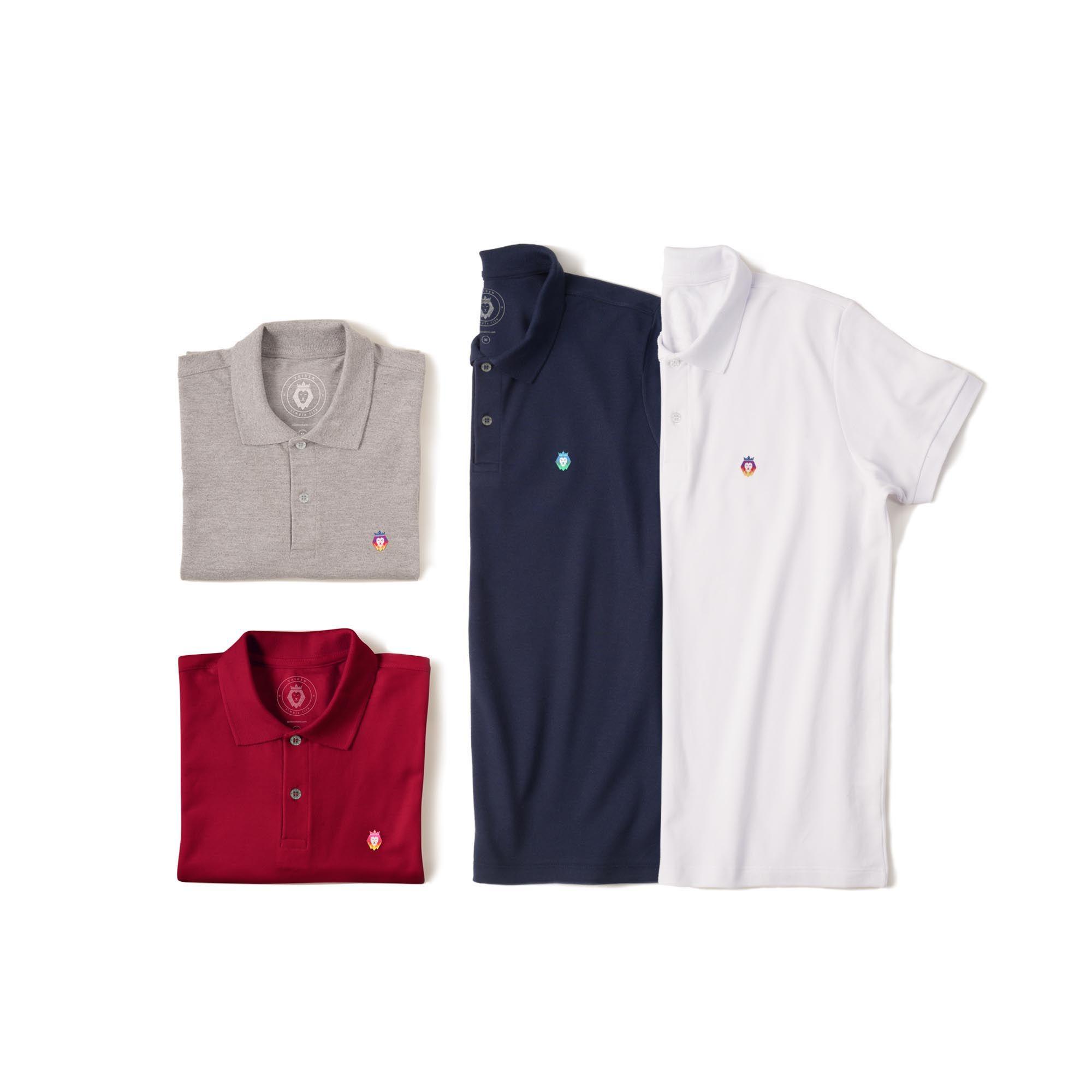 d97c2039b ... Kit 4 Camisas Polo Basic Zaiden Mescla Bordô Azul Marinho Branca  Masculina
