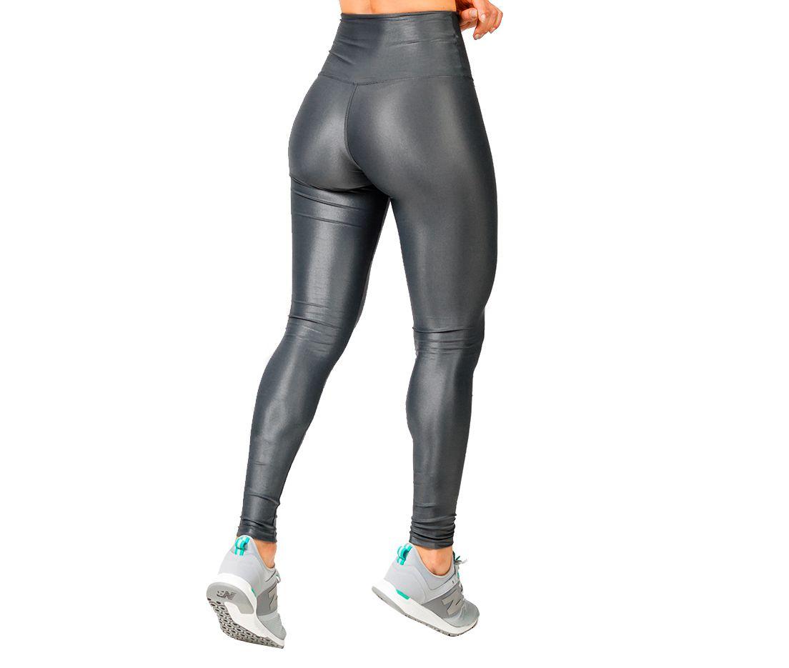 Legging ZDN Sports Modeladora Cirrê Chumbo