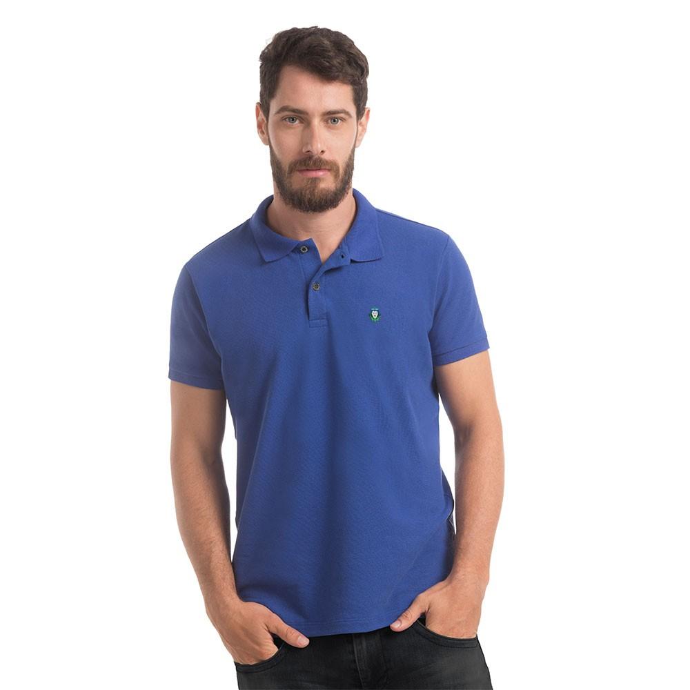 Polo Piquet Zaiden Basic Azul Masculina