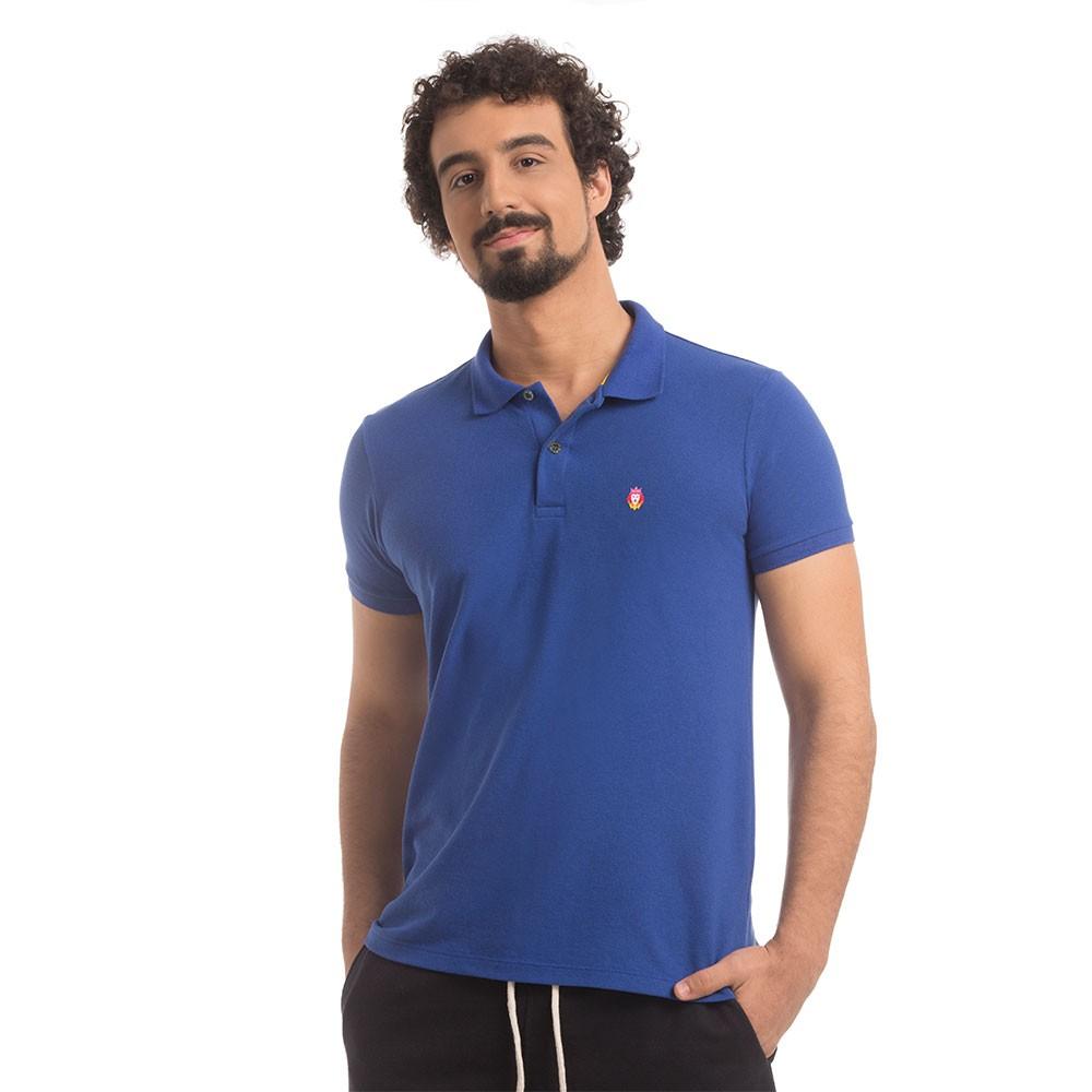 Polo Piquet Zaiden Style Azul Masculina