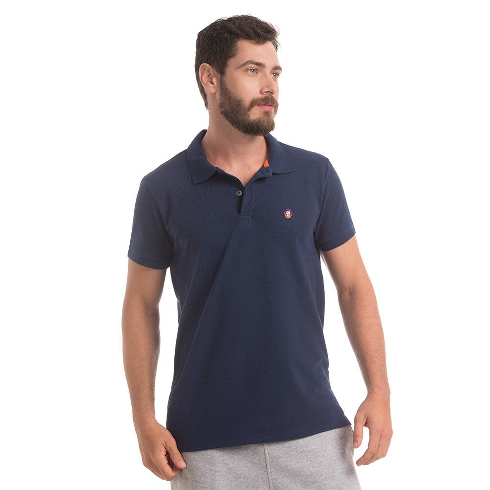 Polo Piquet Zaiden Style Marinho Masculina