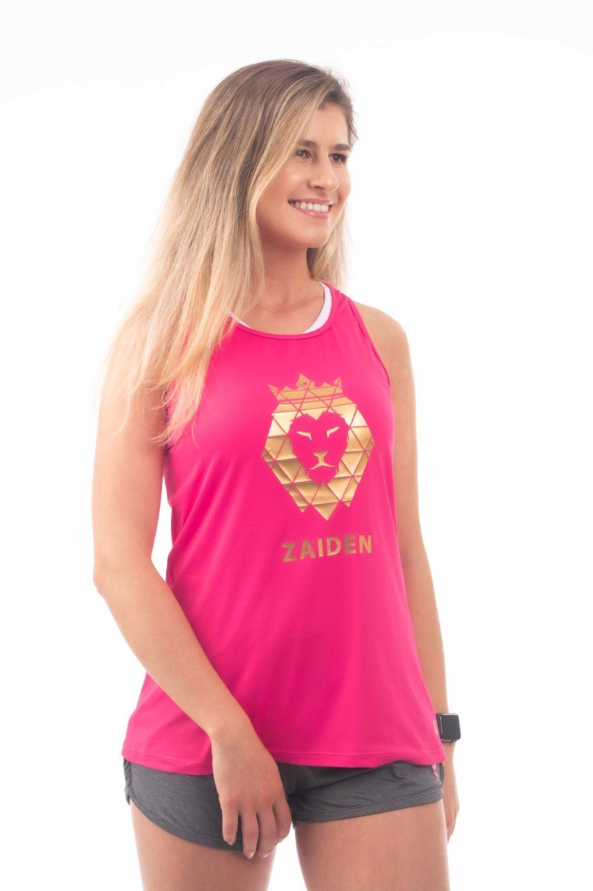 Regata Feminina Poliamida ZAIDEN Pink Leão Dourado
