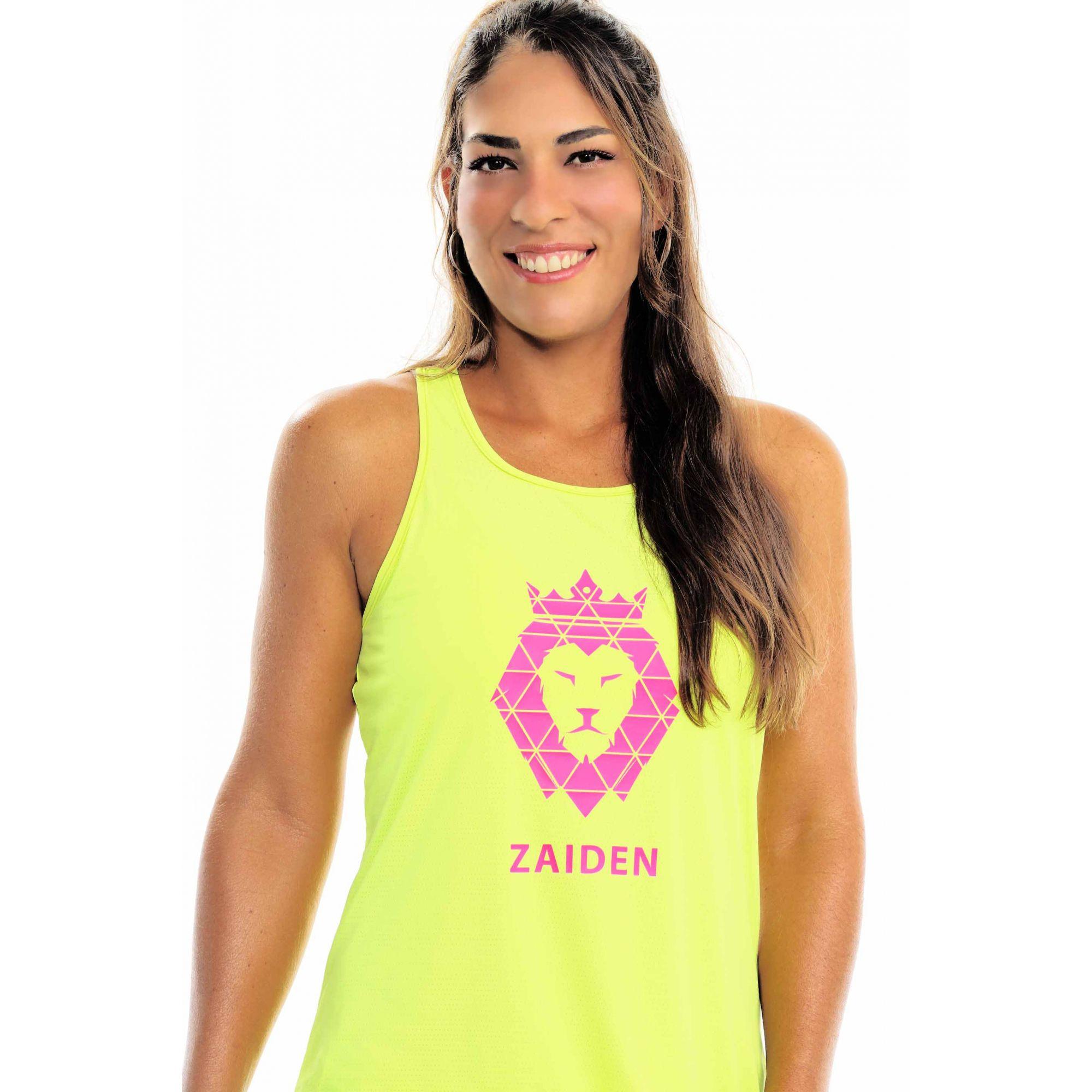 Regata Feminina Poliamida ZAIDEN Isla Leão Pink Neon