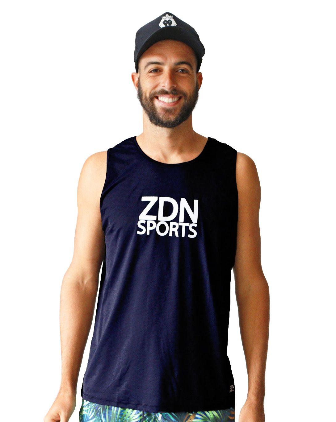 Regata Masculina Poliamida ZDN Sports Black