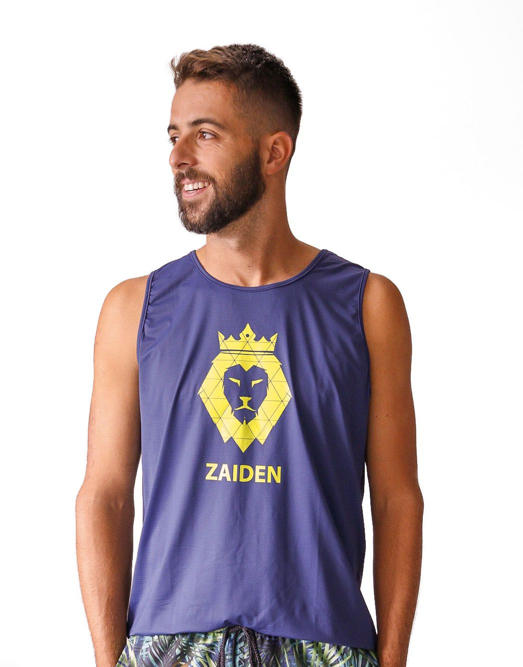 Regata Masculina Poliamida ZDN Sports Lion Neon