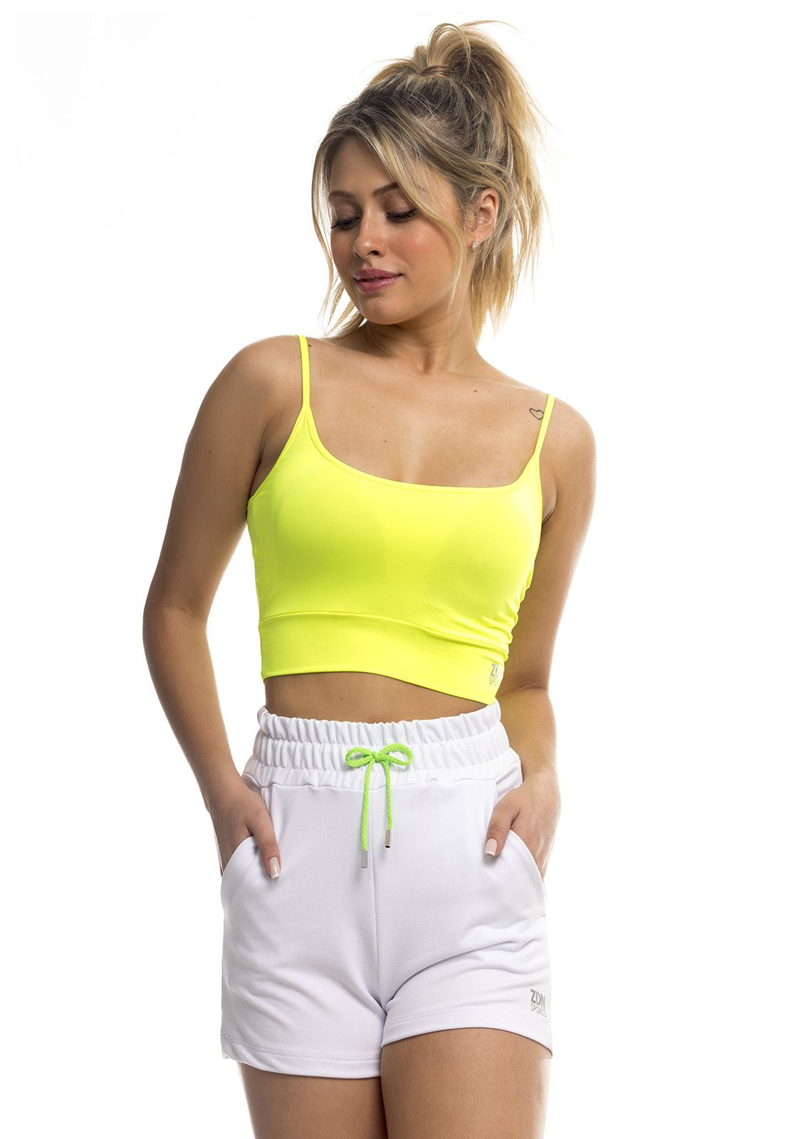 Short Running ZDN Sports Amarelo Neon
