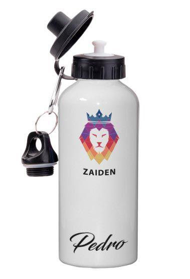 Squeeze Alumínio Zaiden Leão Colorido Personalizado
