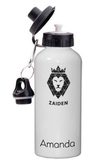 Squeeze Alumínio Zaiden Leão Preto Personalizado