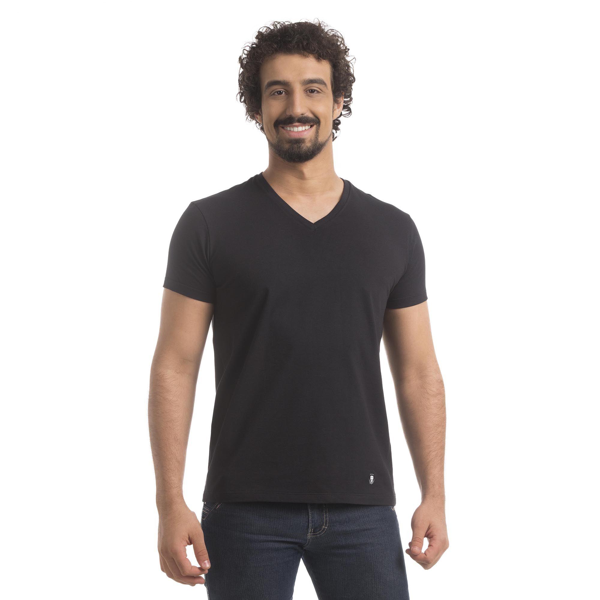 T-Shirt Meia Malha Zaiden Basic Masculina