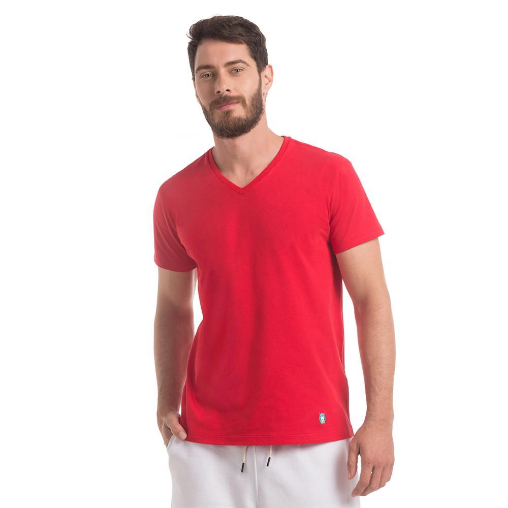 T-Shirt Zaiden Basic Vermelha Masculina