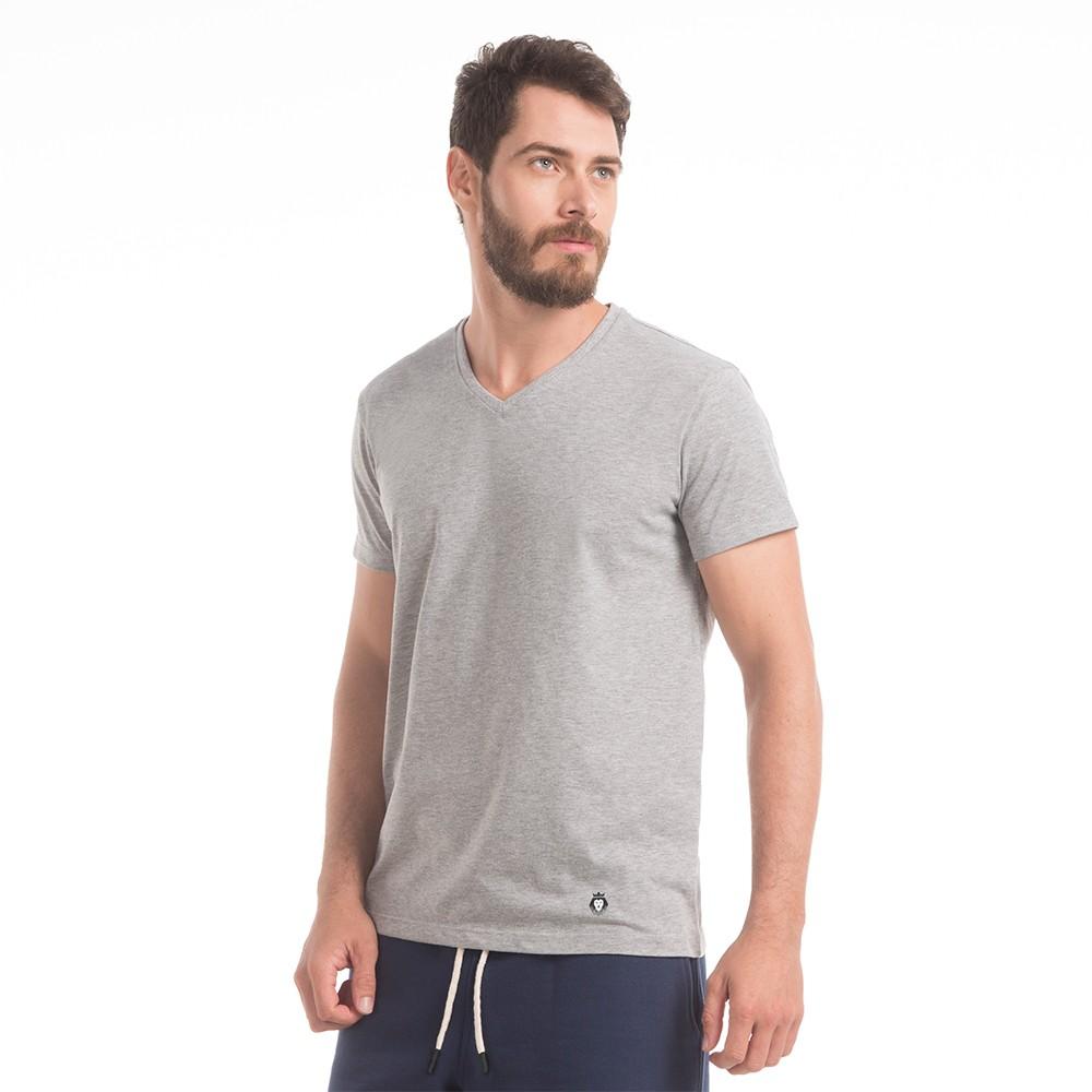 T-Shirt Zaiden Basic Mescla Masculina
