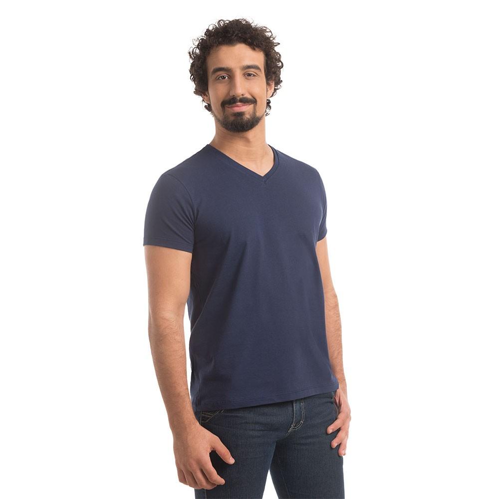 T-Shirt Zaiden Basic Marinho Masculina