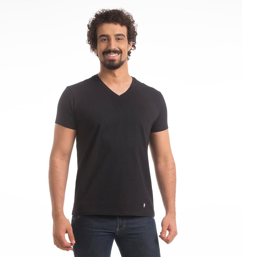 T-Shirt Zaiden Basic Preta Masculina