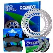 Disco de Freio honda cbx 250 Twister ate 2008 + Pastilhas + Lona Cobreq