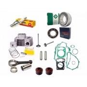 Kit Motor Titan 150 nxr 150 Bros Pistao Biela Rolamento Vela Junta