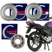 Kit Rolamento Roda Traseira Ybr 125 Factor 125 Todas Nachi