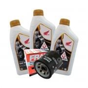 Kit Troca Oleo E filtro Honda Cb 500 F x 2013 em diante 10w30 original Honda
