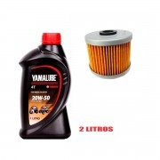 Kit Troca Oleo E Filtro Yamaha Fazer 250 Yamalube 20w50