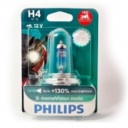 Lâmpada Philips X-treme Vision Moto H4 12v 60/55 130%+brilho