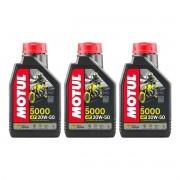 Óleo Motul 5000 4t 20w-50 Hc-tech Semissintético 3 Litros