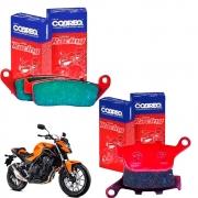 Pastilhas Freio CB 500F CB500F CB 500 F Dianteiro + Traseiro Cobreq Racing
