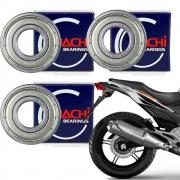 Rolamentos Roda Traseira Cb 300 Freio Disco 6203 6204 6303 Nachi