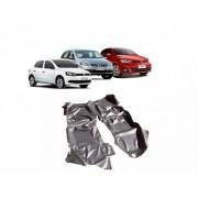Tapete Auto para Assoalho em Verniz Liso Volkswagen Gol G5 G6 G7 G8 Preto