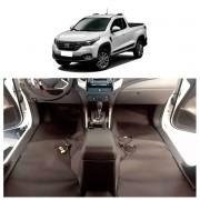 TAPETE AUTOMOTIVO PREMIUM COURO COURVIN FIAT STRADA 2020 2021 simples