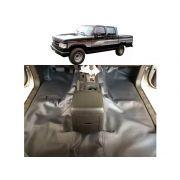 Tapete Carpete Assoalho Emborrachado  Para A20 D20 Cabine Dupla