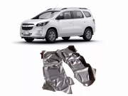 Tapete Carpete Assoalho Vinil Verniz Chevrolet Spin 2012 a 2018