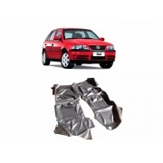 Tapete Carpete Assoalho Vinil Verniz Volkswagen Gol G2 G3 G4 4 Portas Preto