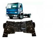 Tapete Carpete Vinil Verniz Assoalho Ford Cargo 815 Até 2010 Preto