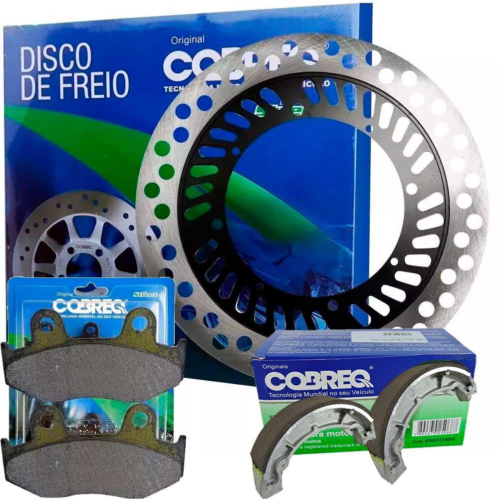Disco de Freio HONDA XLX 350 Dianteiro + Pastilha + Lona Cobreq