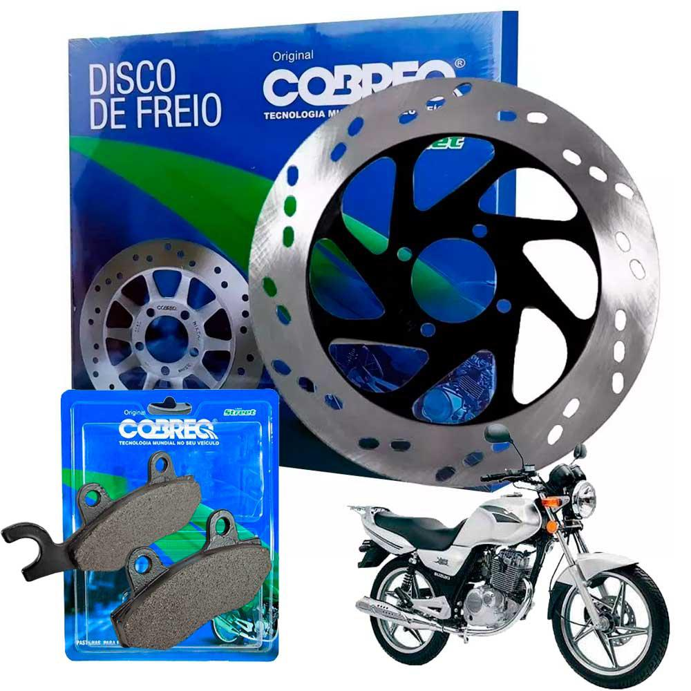 Disco de Freio Yes 125 Suzuki + Pastilha Cobreq Original