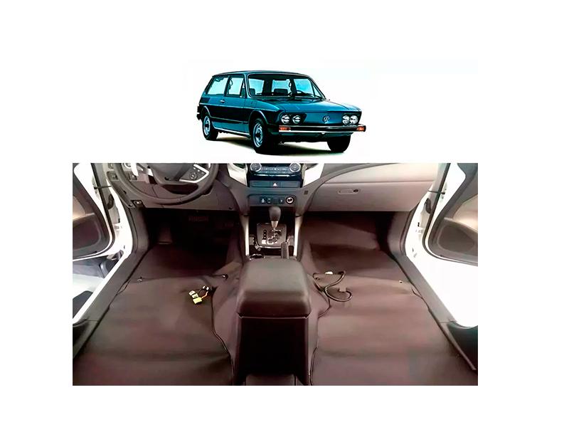 Forro Super Luxo Automotivo Assoalho Para Brasilia 1975 a 1980