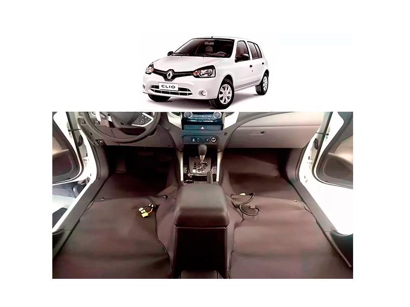 tapete Super Luxo Automotivo Assoalho renault Clio 2013 a 2015