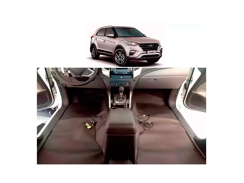 Forro Super Luxo Automotivo Assoalho Para Creta 2017 a 2018