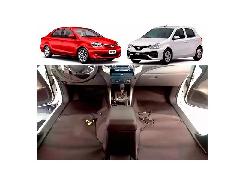 tapete Super Luxo Automotivo Assoalho toyota Etios hatch sedan